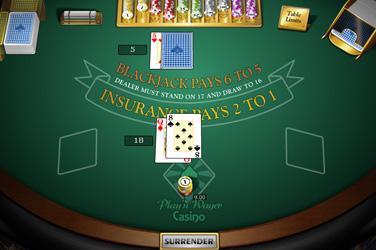 Single палуба Blackjack М.Х.