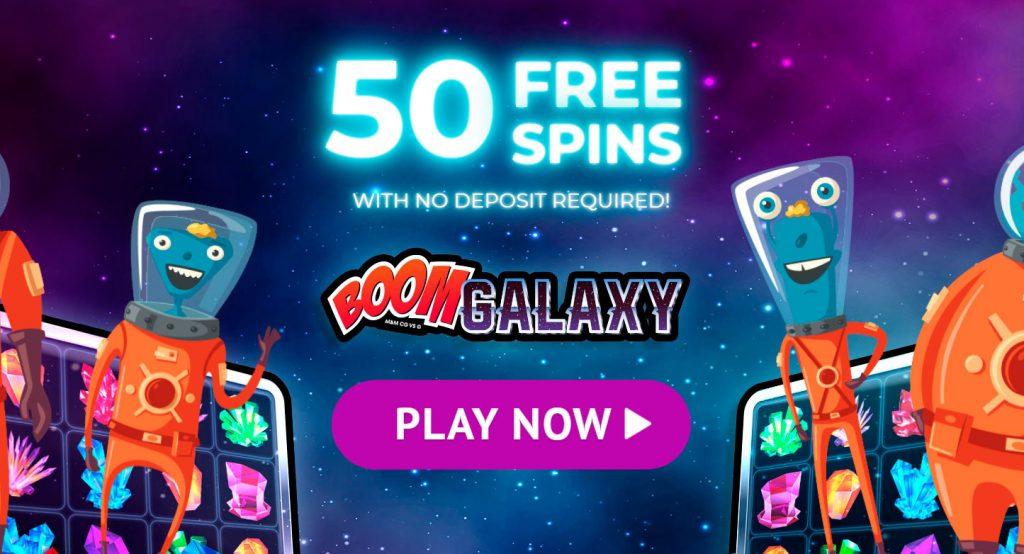 Jackpot City - Darmowe spiny 50 na automacie Boom Galaxy!