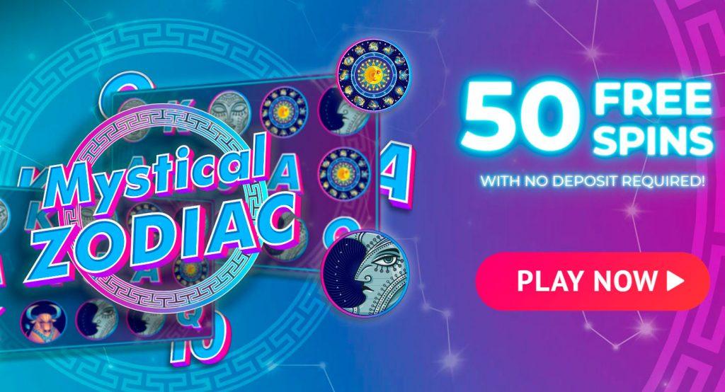 Spin Casino - Darmowe obroty 50 w automacie Mystical Zodiac
