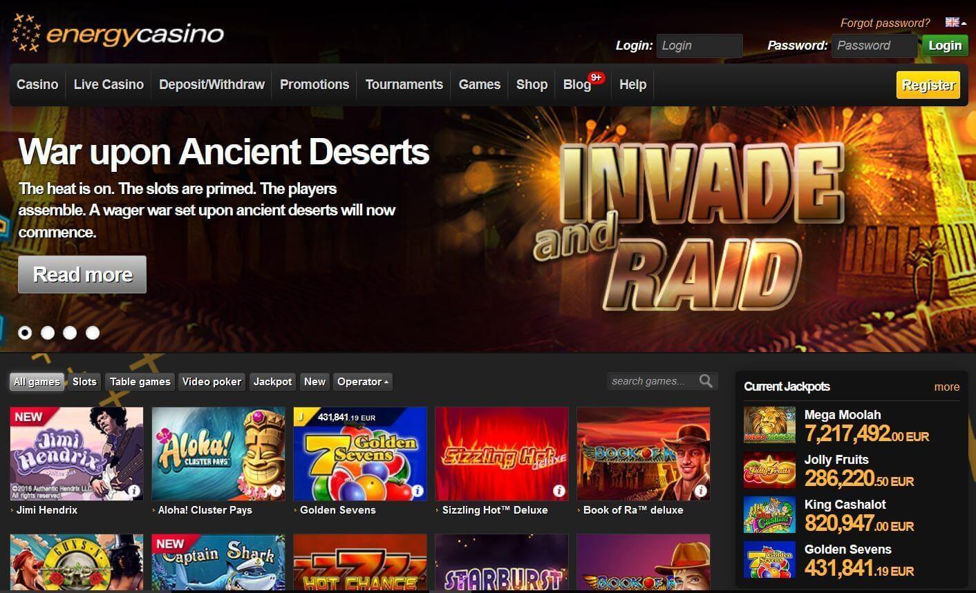 официальный сайт казино energy зеркало