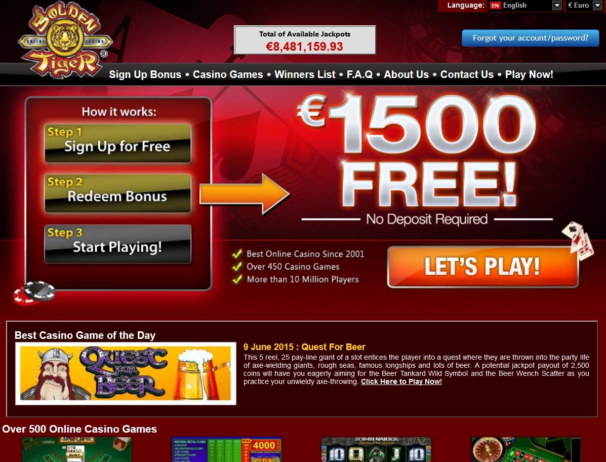 270 Free spins no deposit casino at Slots Capital