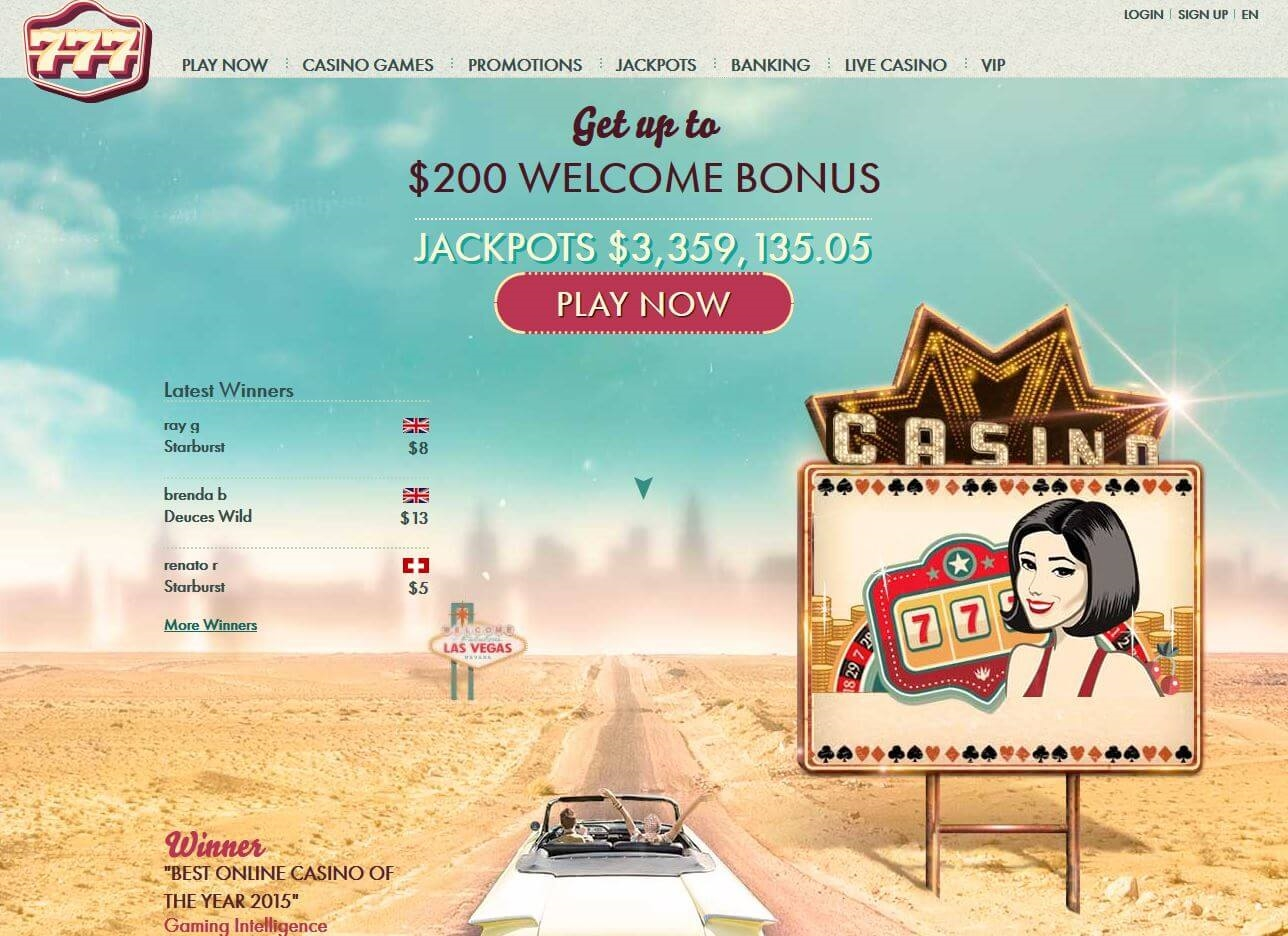 160% Match at a casino at 777 Casino