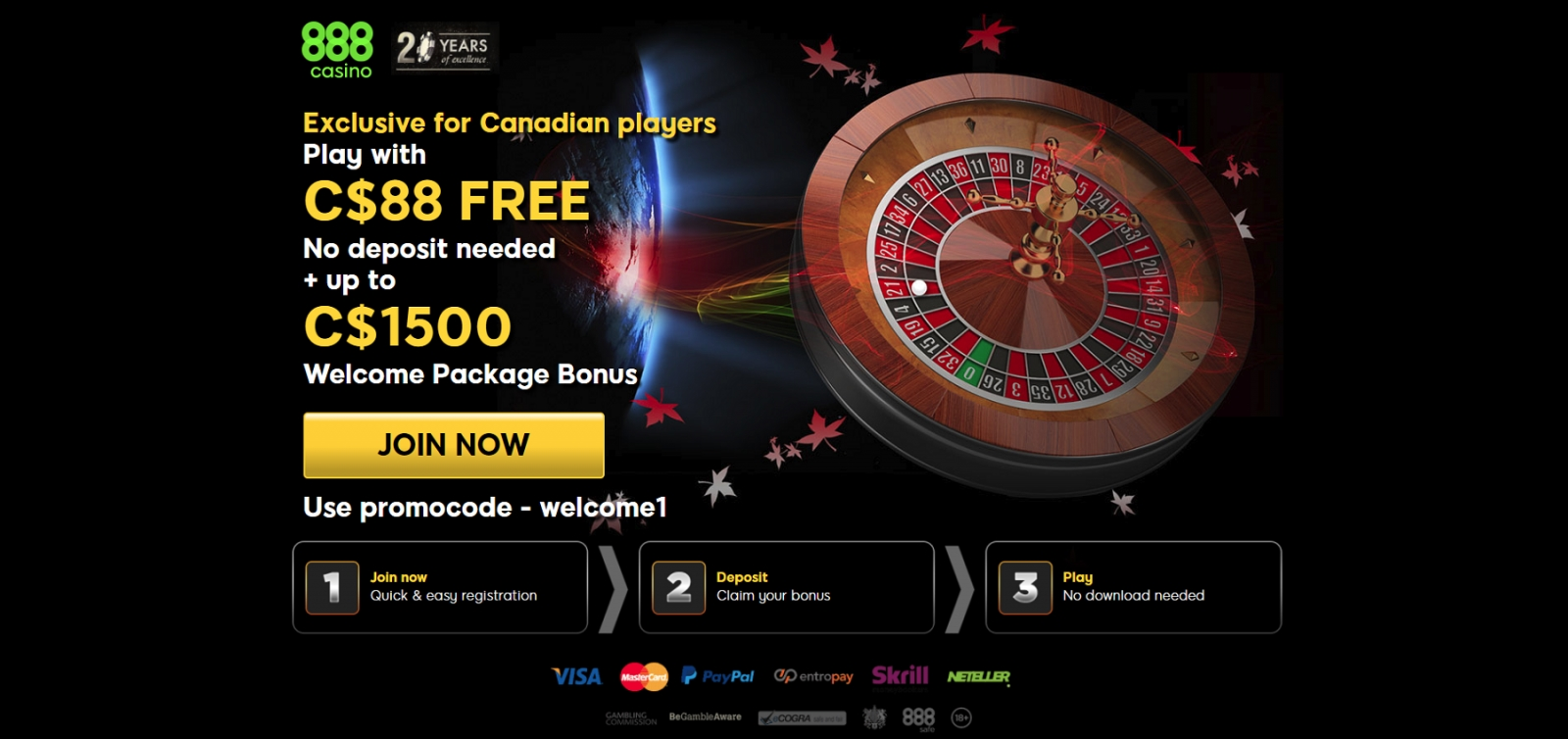 685% casino match bonus at Slots Heaven