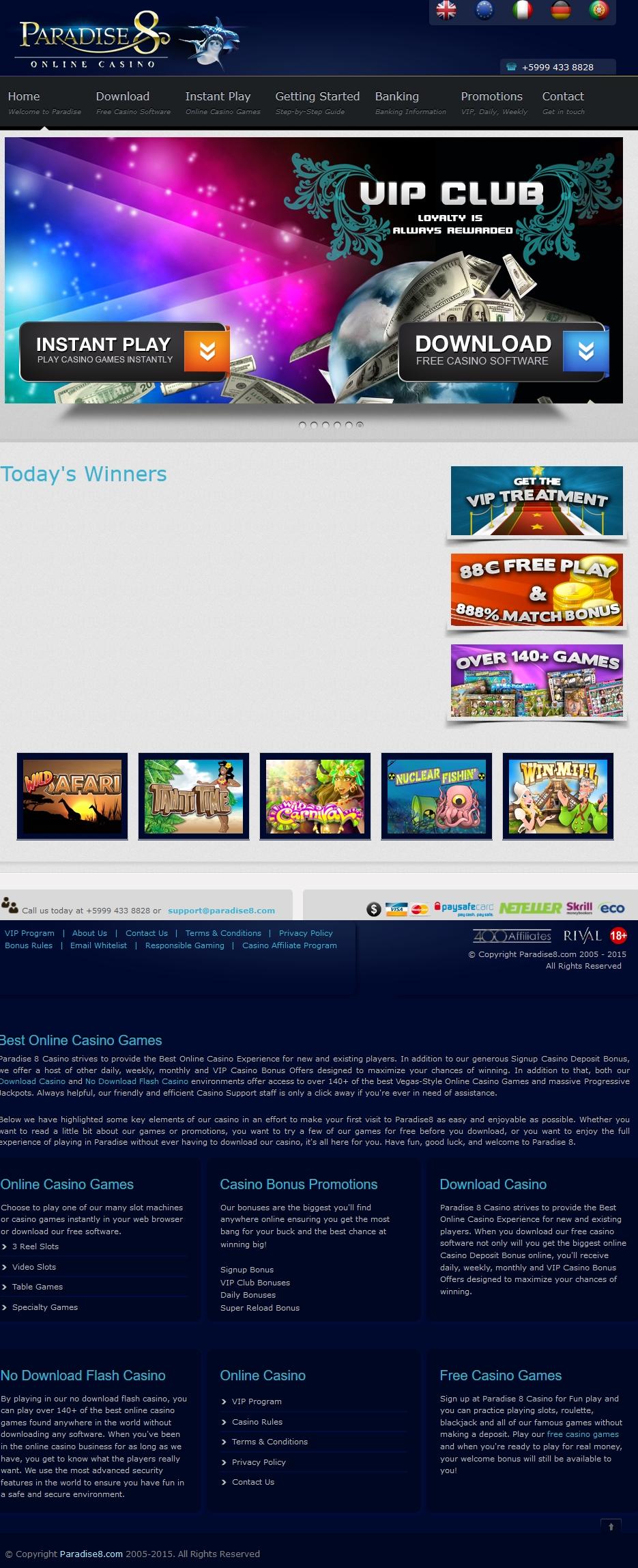 Treasure Island Jackpots (Sloto Cash Mirror)的EUR 110赌场筹码