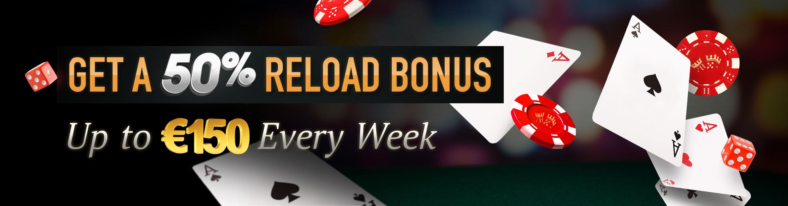 EUR 4710在Party Casino没有存款奖金赌场