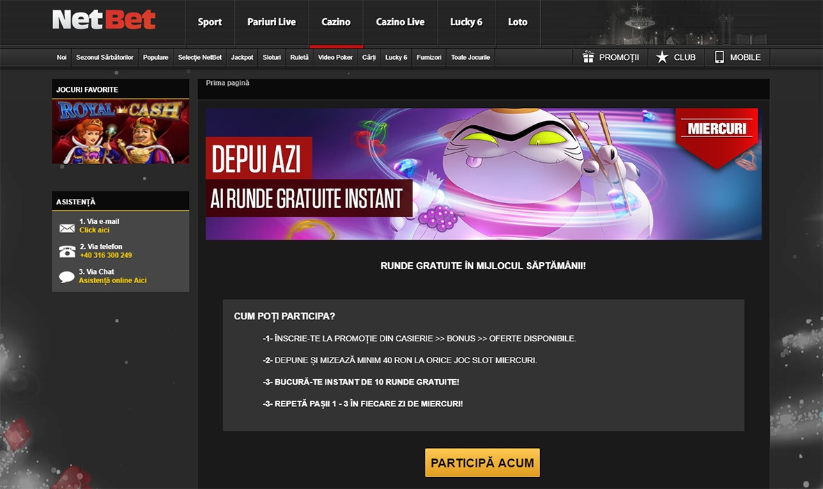 Bonus de match 275% Casino sur Party Casino