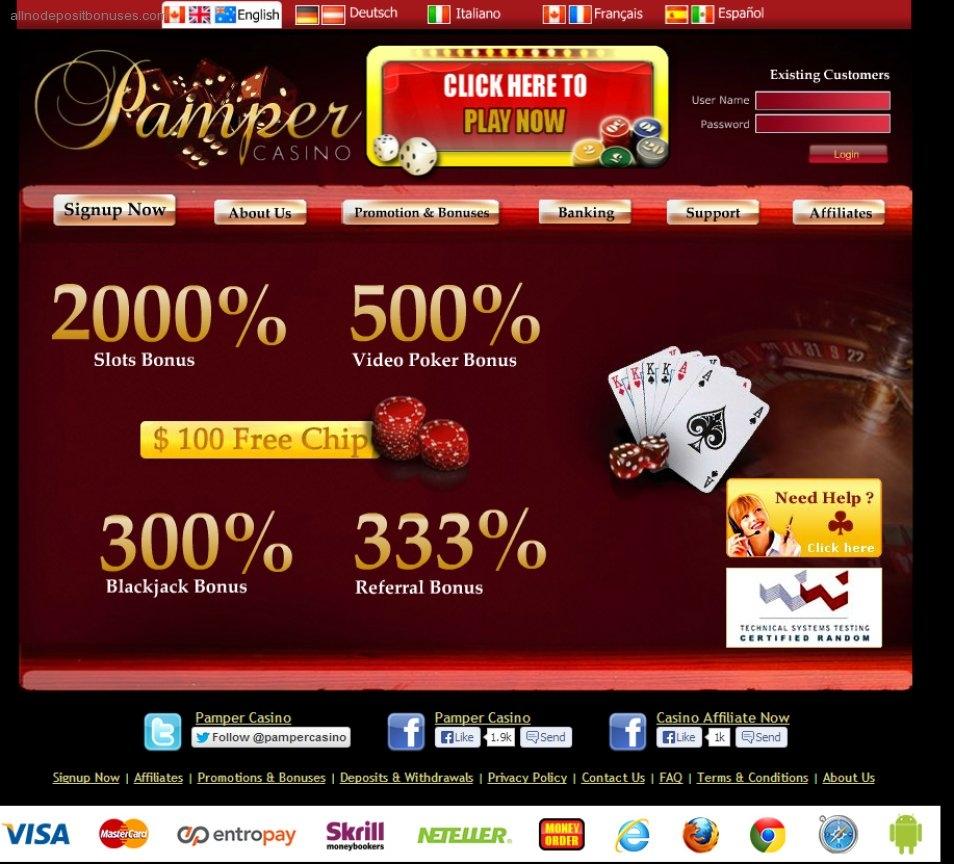 €4500在派对赌场没有存款赌场奖金