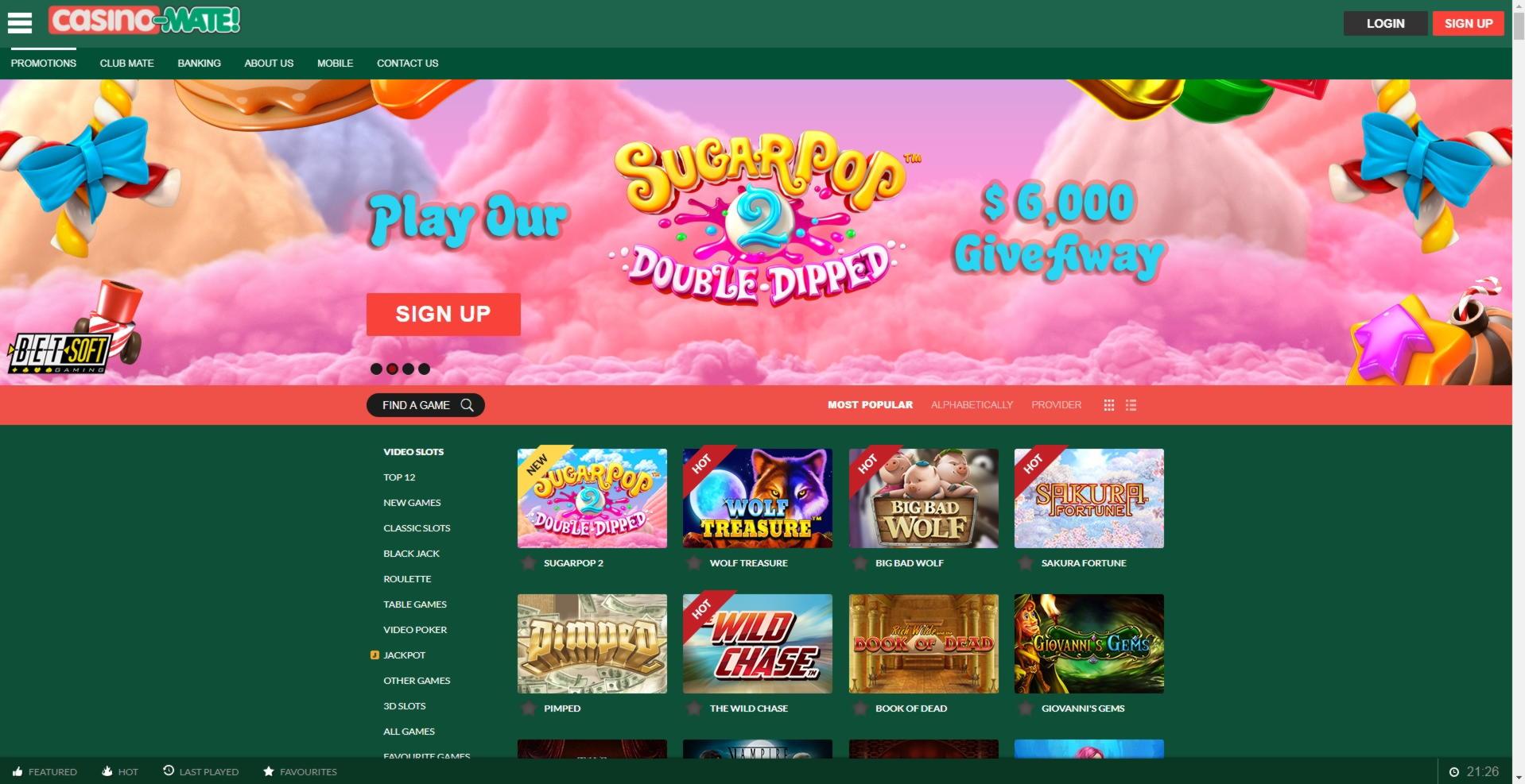 955٪ Match Bonus Casino في Joy Casino