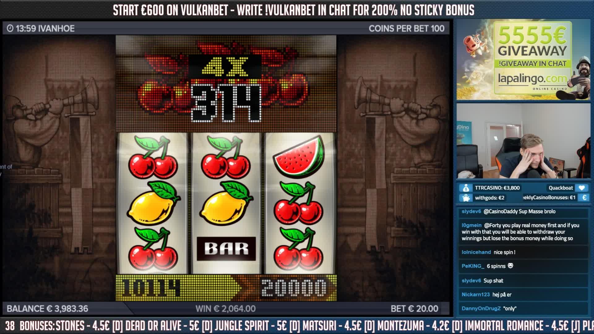 رقاقة 360 مجانية في Gamebookers