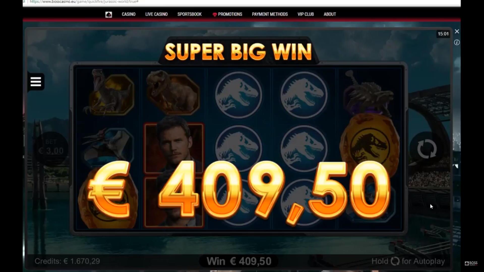 240 Free- ը Joy Casino- ում է