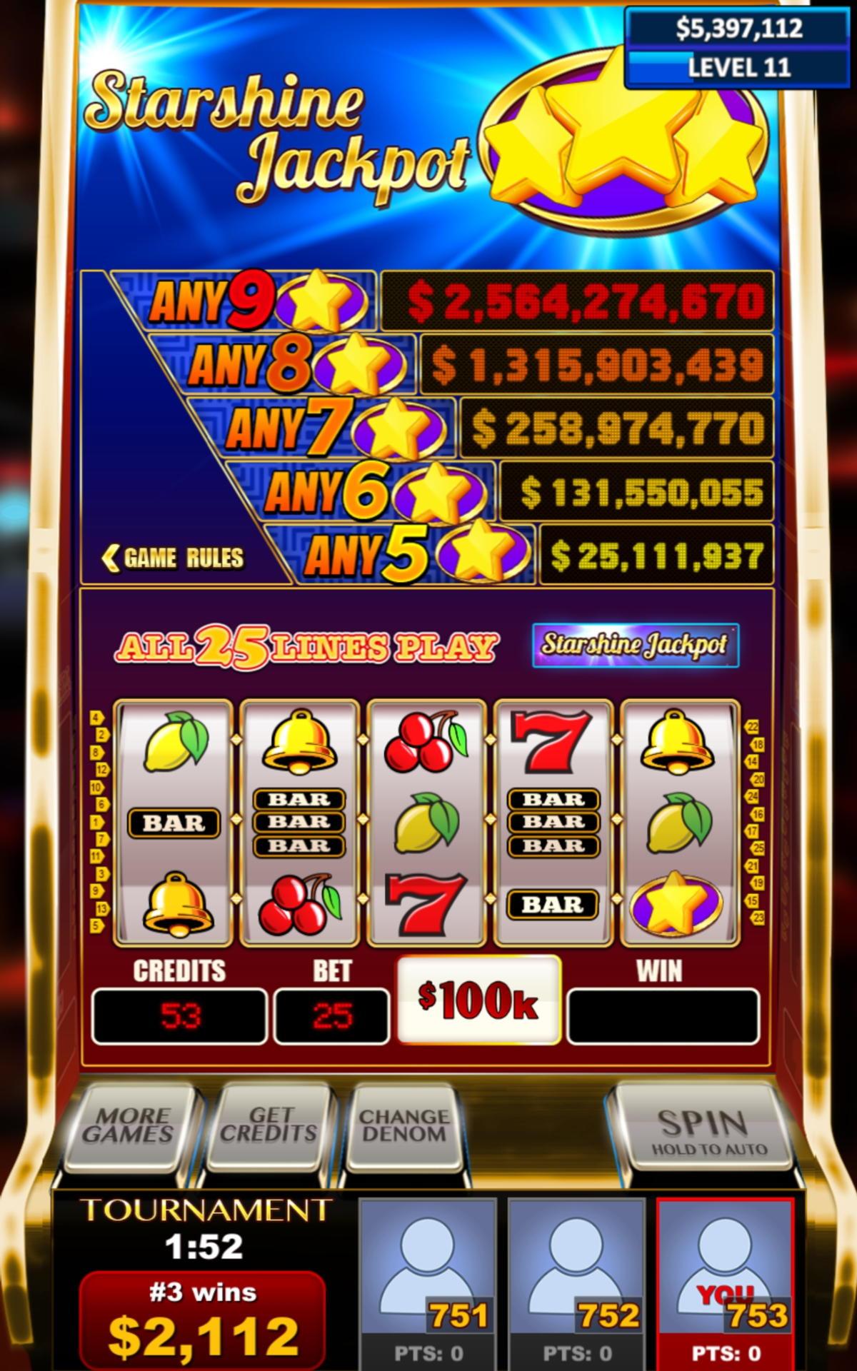 $ 75 Free Casino- ի մրցաշարը bWin- ում