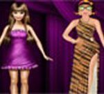 Zoe with Barbie Dress Up