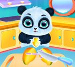 Cute Panda Caring And Dressup