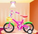 Kız bisiklet tamir ve yıkama salonu