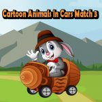 Cartoon Animals In Cars Match 3
