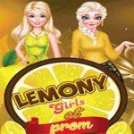 Lemony Girls At Prom