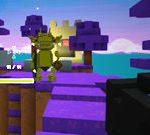 Campo de batalla flotante de Minecraft