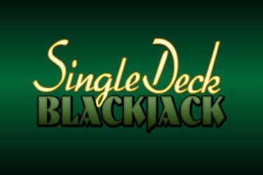 Single blackjack no deck
