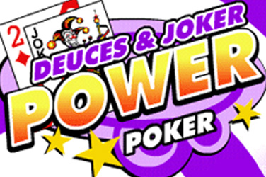 Deuces e Joker 4 jogam poder poker