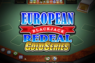Europeisk blackjack redealt gull