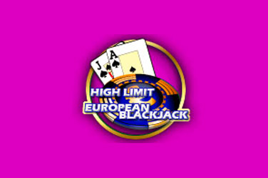 High limit Europees blackjack