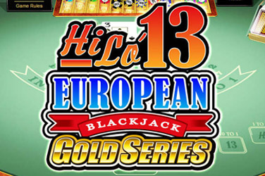 Hilo 13 blackjack europeo d'oro