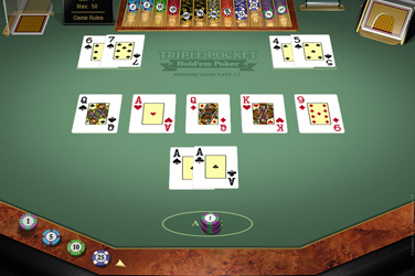 Triple pocket holdem póker
