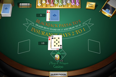 Single blackjack do convés mh