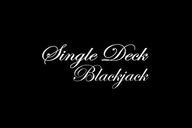 Single blackjack deck