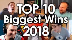 Top 10 - největší výhry roku 2018