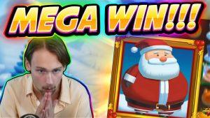 MEGA WIN! Fat Santa Big win – HUGE WIN – Casino Game from Casinodaddy Live Stream