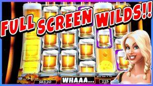 ★RARE 🍺 FULL SCREEN WILDS 🍺 BIG WIN | Heidis Bier Haus Slot Machine Bonus