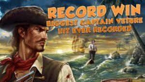 BIG WIN !!!! Kaptajn Venture - RECORD WIN - Casino Games - Bonusrunde (Casino Slots)