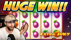 HUGE WIN!!! Extra Juicy BIG WIN – Casino Slot from Casinodaddy stream