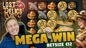MEGA WIN! Lost Relics BIG WIN – 12 euro bet – Huge win from Casino LIVE stream