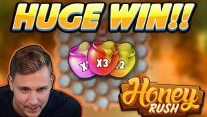 HUGE WIN!!! Honey Rush BIG WIN – Casino game from CasinoDaddy Live Stream