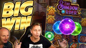 """MASSE ir TĖTAI BIG WIN !!! """"Shadow Order BIG WIN"""" - kazino žaidimai, žaidžiami """"CasinoDaddys"""" sraute"""