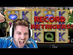 YOUTUBE RECORD Retriggers on Magic Mirror – MEGA BIG WIN!! ( Online Casino )