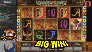BIG WIN on Book of Ra Slot – £8 Bet!