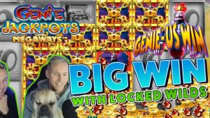 Genie Jackpots BIG WIN  -  1000 xでの大勝利 - フリースピン(オンラインカジノ)