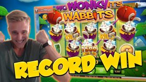 RECORD WIN!!! Wonky wabbits 15€ bet Big win – Casino – Huge Win (WILDLINE)