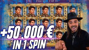 ROSHTEIN Book of Dead BIG WIN | 1 spin 50000€ huge jackpot online casino
