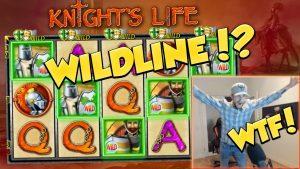 WILD LINE?!?! RECORD WIN !!! Knights Life Velika zmaga - Casino igre - Ogromna zmaga
