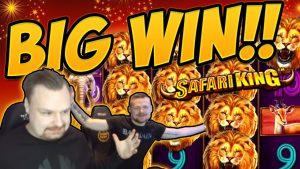 大勝利! Safari King BIG WIN  - カジノゲームでのEpic Winのライブストリーム配信