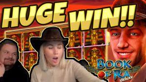HUGE WIN!!! Book of Ra BIG WIN!! Gambling on Casino Games from CasinoDaddy