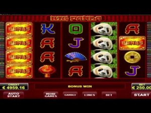 Big Panda slot, cool bonus game, 5 free spins! WIN €19.500