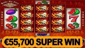 Bells on fire, amatic slot mega win – €55700