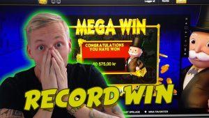 RECORD WIN Monopoly BIG EVENT BIG WIN 30euro spin HUGE WIN CASINO