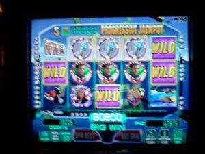 Wynn Casino Las Vegas,Big win on Top Gun slot machine