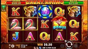 Great Rhino Online Casino Slot Big Win!
